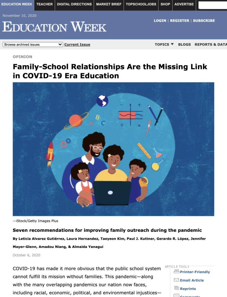Ed Week article