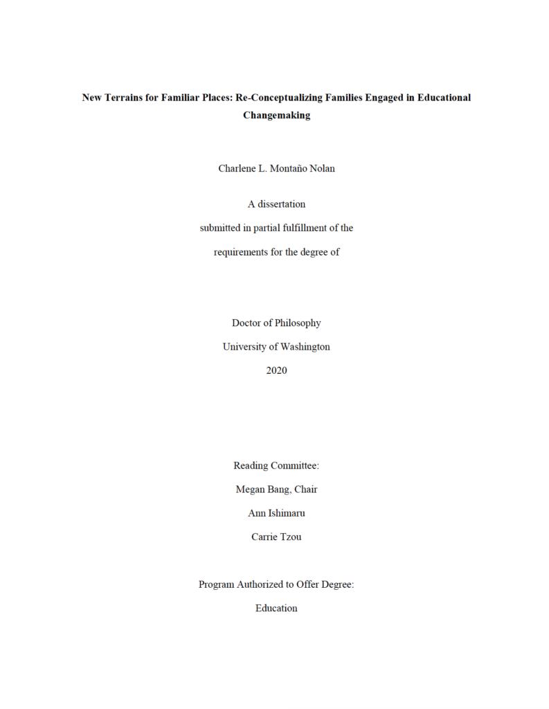 Image of Charlene's Dissertation