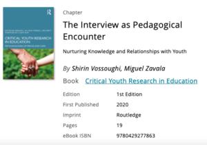 The Interview as Pedagogical Encounter
